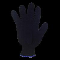 Перчатки х/б 7,5 класс 4 нити без ПВХ черные
