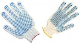 Перчатки хб с ПВХ белая 10 класс 4 нити