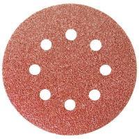 """Круг абразивный на ворсовой подложке под """"липучку"""", перфорированный, орированный, P 80, 125 мм, 5 шт. СИБРТЕХ"""