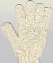 Перчатки х/б 7,5 класс 5 нитей без ПВХ белые