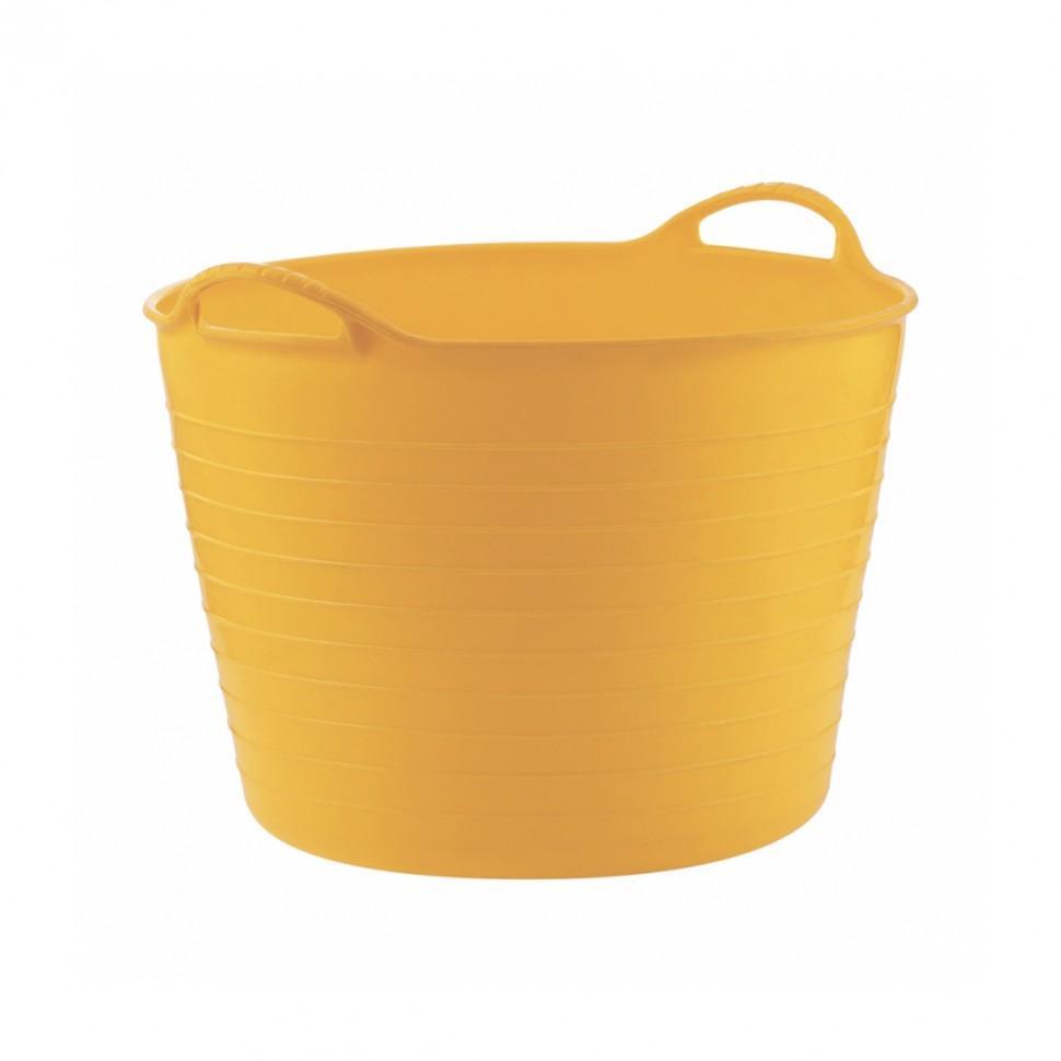 Ведро гибкое, сверхпрочное 40л, желтое. СИБРТЕХ
