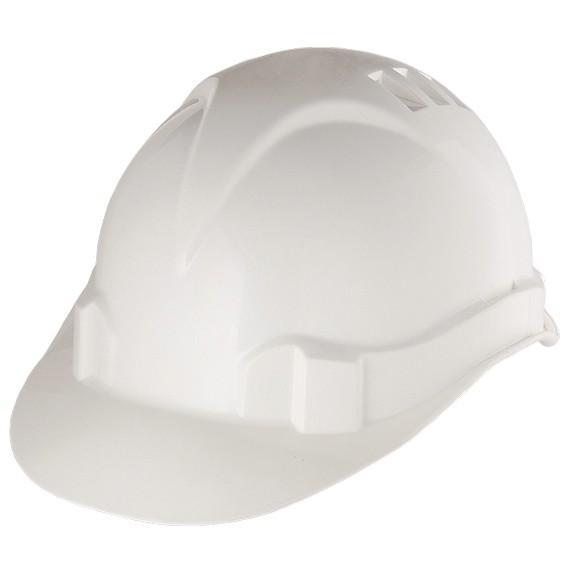 Каска защитная из ударопрочной пластмассы, белая, Россия. СИБРТЕХ