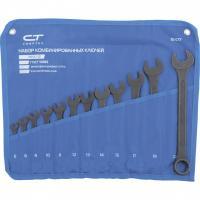 Набор ключей комбинированных, 6-22 мм, 12 шт, CrV, фосфатированные, ГОСТ 16983. СИБРТЕХ