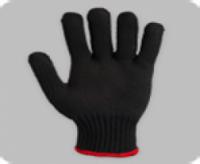Перчатки х/б 7,5 класс 8 нитей без ПВХ чёрные