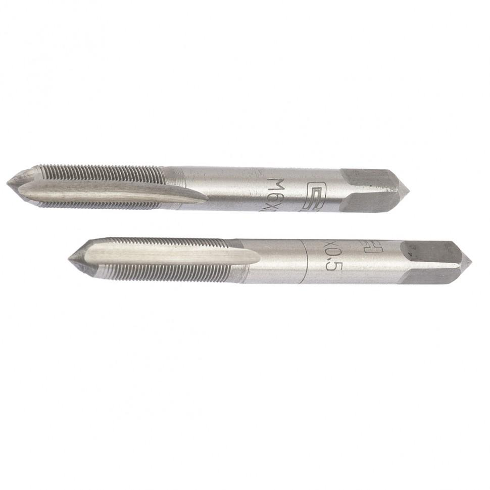 Метчик ручной М6 х 0,5 мм, комплект из 2 шт. СИБРТЕХ
