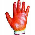 Перчатки х/б 2-ой облив жёлто-красные