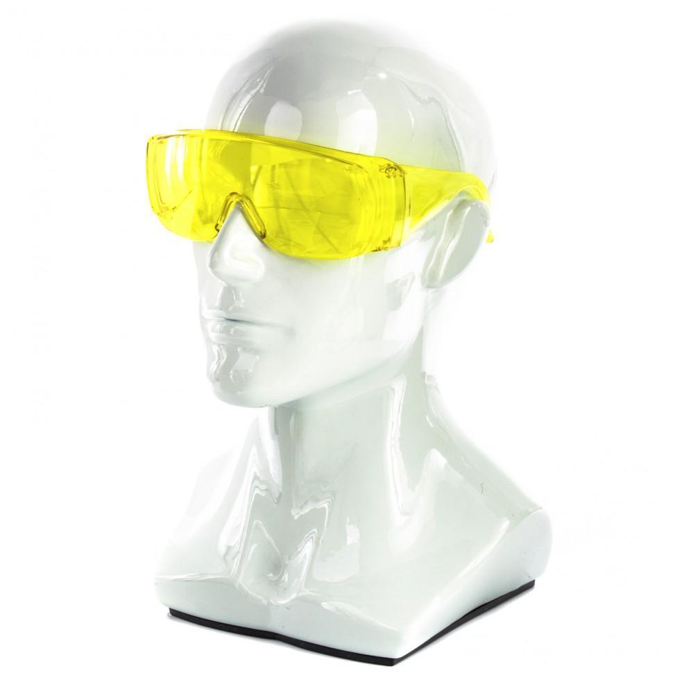Очки защитные, желтые, ударопрочный поликарбонат, Россия. СИБРТЕХ